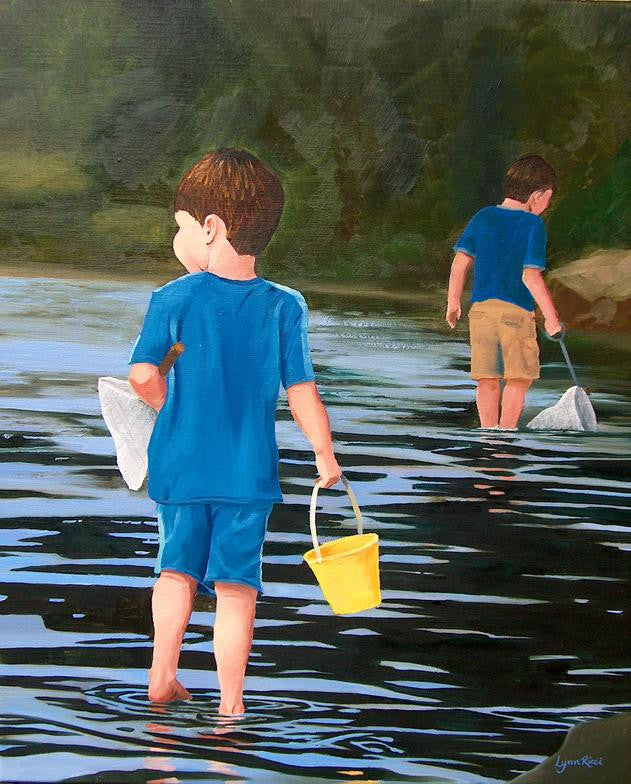 Patroling the Kettle Pond - Artwork of Lynn Ricci