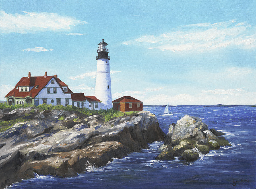 Giclee of Portland Head Lighthouse - Artwork of Lynn Ricci