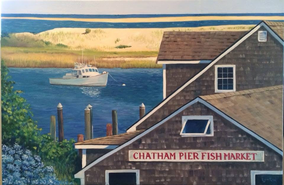 Giclee of Chatham Fish Pier - Artwork of Lynn Ricci