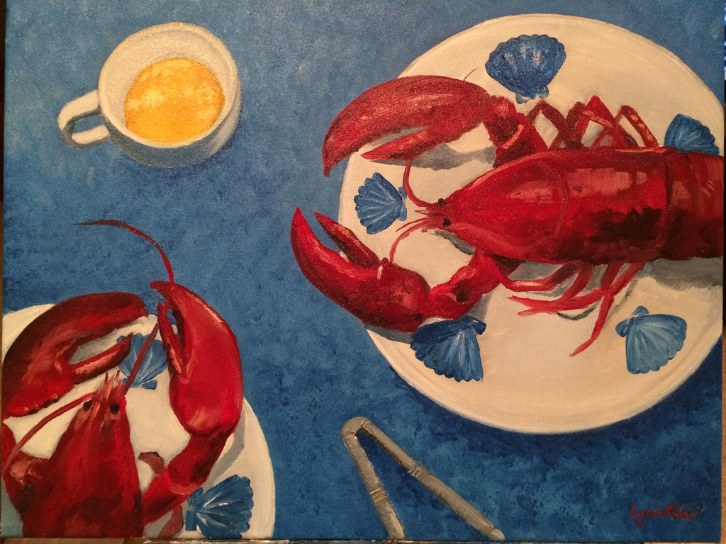Lobster For Two - Artwork of Lynn Ricci
