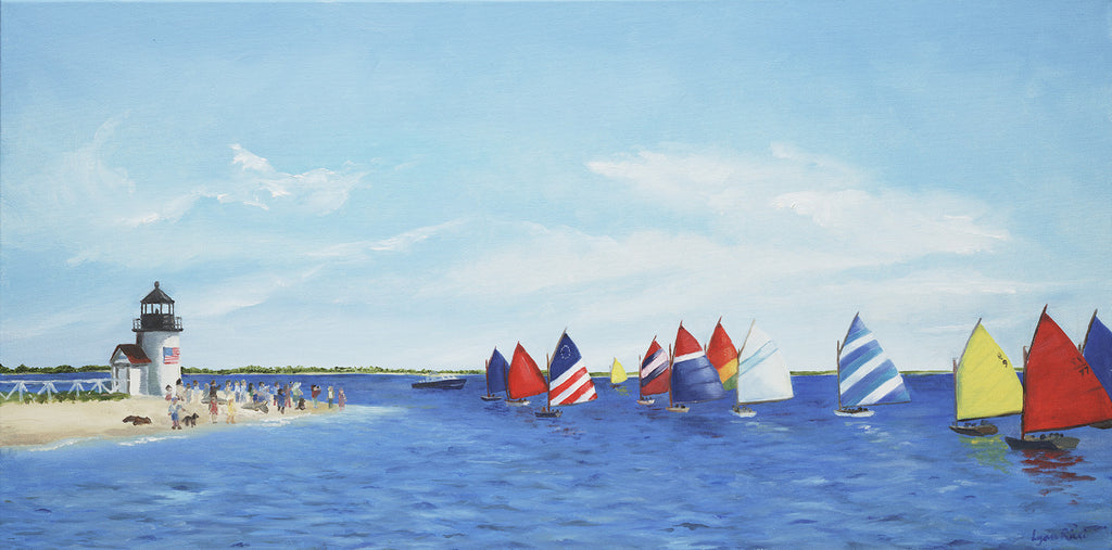 Giclee of Rainbow Parade - Nantucket - Artwork of Lynn Ricci
