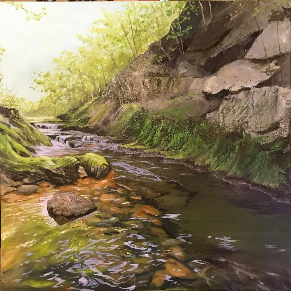 A Reflective River - Artwork of Lynn Ricci