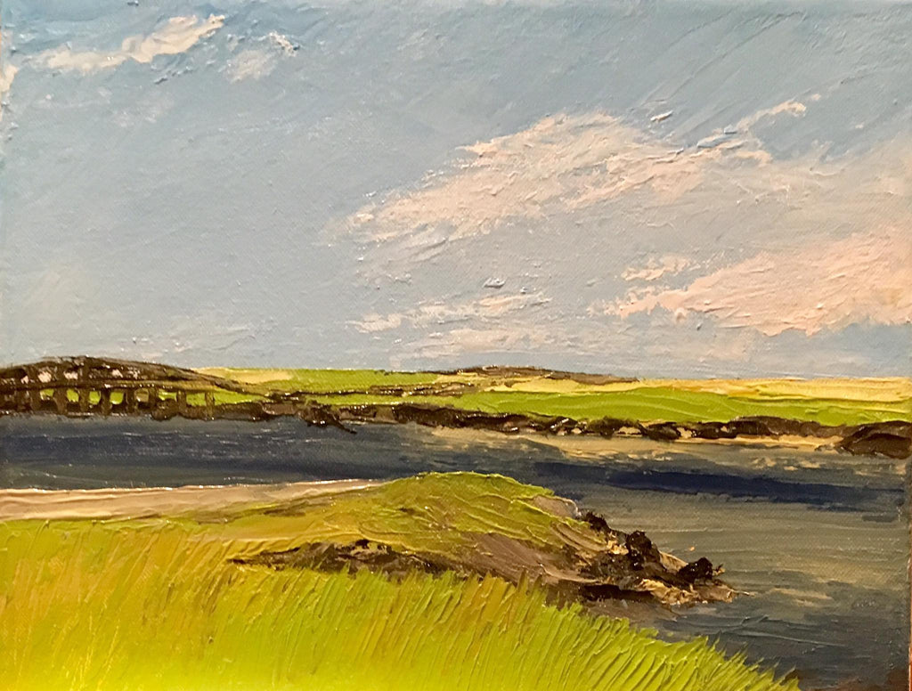 Sandwich Boardwalk and Marshes - Artwork of Lynn Ricci