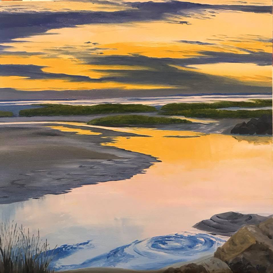Sunset at Paine's Creek - Artwork of Lynn Ricci