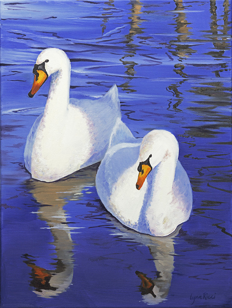 Two Swans - Artwork of Lynn Ricci