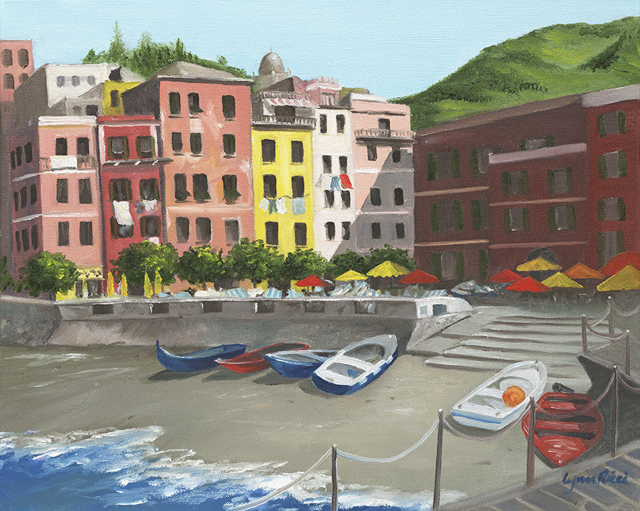 Giclee of Lunch in Vernazza - Artwork of Lynn Ricci