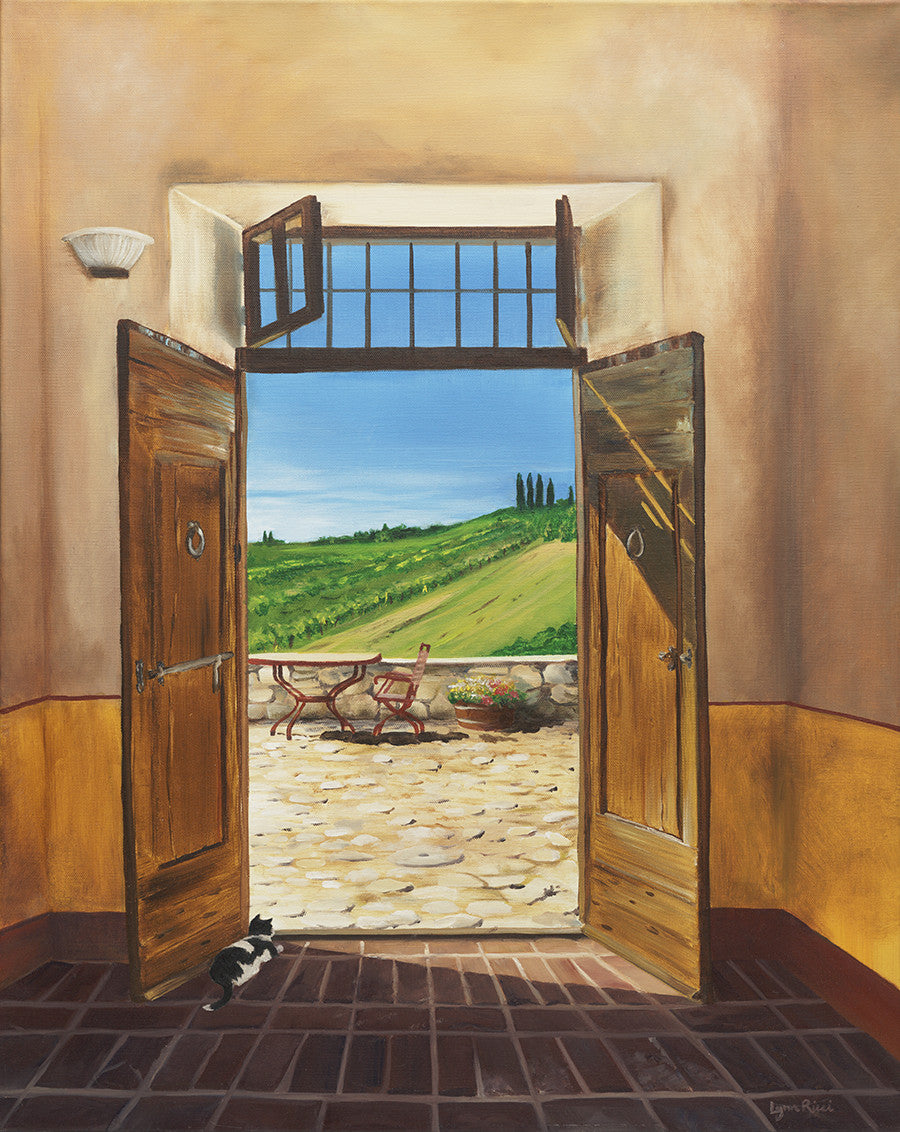 Giclee of Tuscan Door - Artwork of Lynn Ricci
