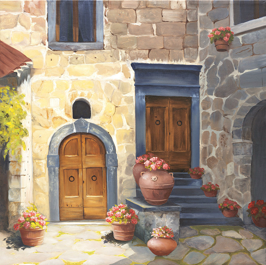 Giclee of Tuscan Double Doors - Artwork of Lynn Ricci