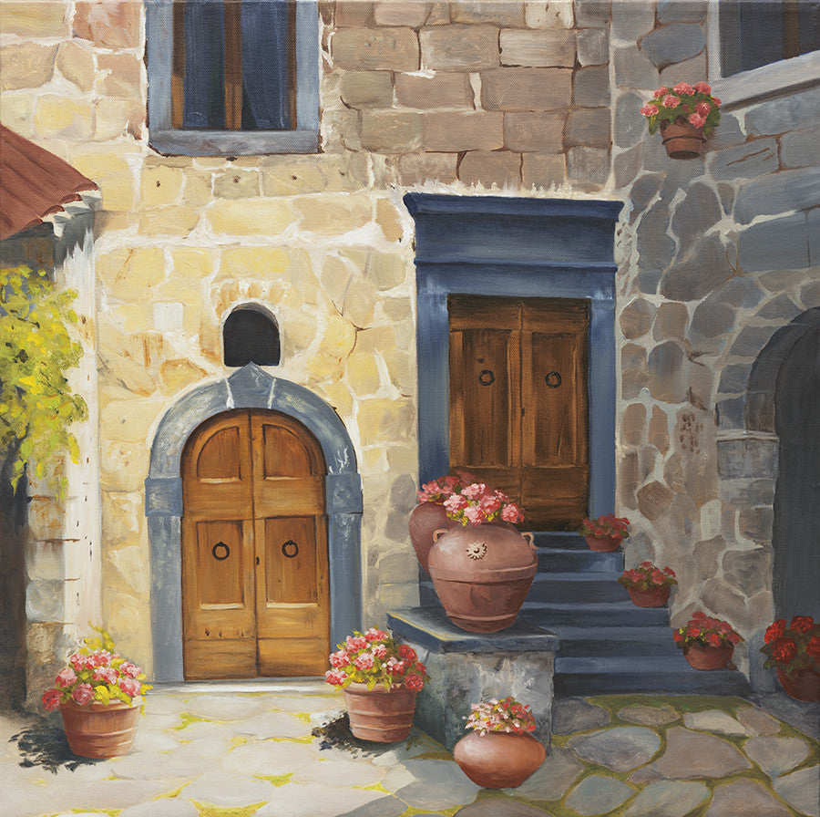 Tuscan Double Door - Artwork of Lynn Ricci