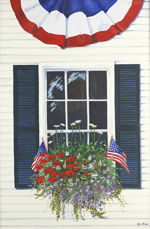 Patriotic Windowbox - Artwork of Lynn Ricci
