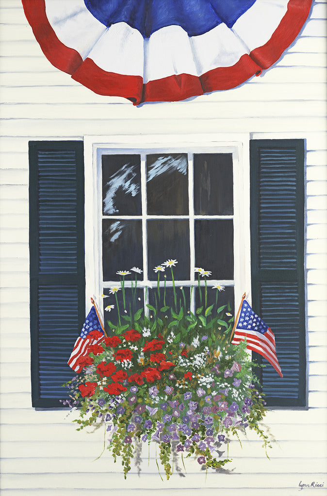 Giclee of Patriotic Window - Artwork of Lynn Ricci