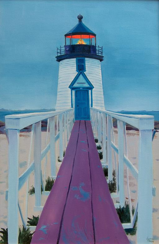 Brant Point Light - Artwork of Lynn Ricci