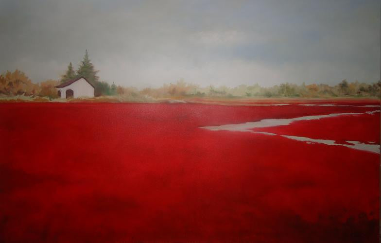 Cranberry Harvest in Harwich - Artwork of Lynn Ricci