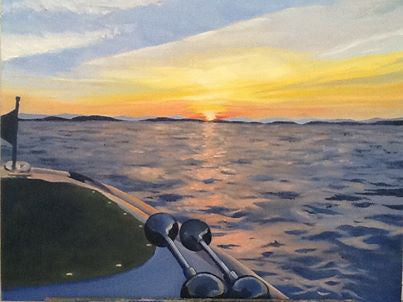 Lake at Sunset - Artwork of Lynn Ricci