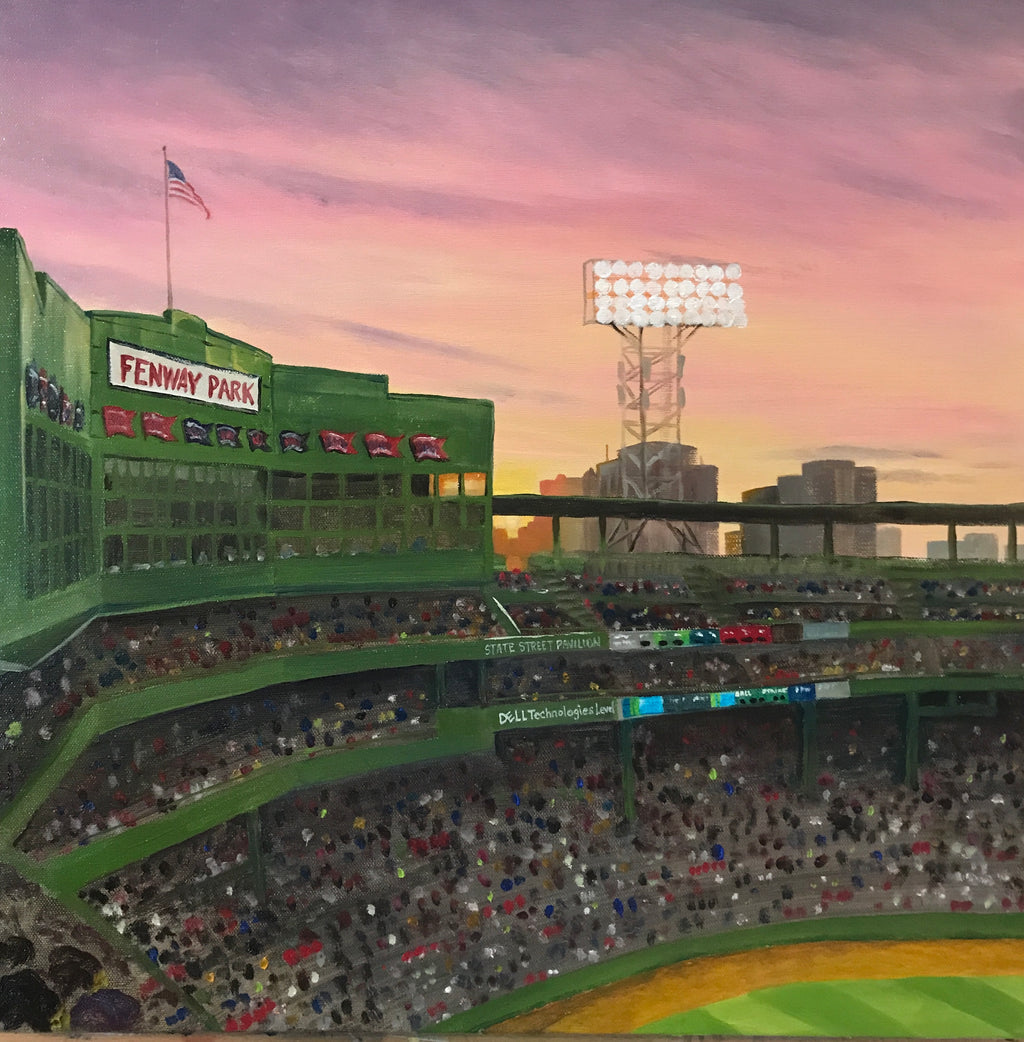 Fenway Park Sunset - Artwork of Lynn Ricci