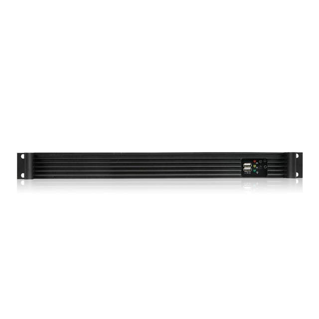 iStarUSA D Value D-118V2-ITX No PS 1U Rackmount mini-ITX Server Chassis (Black)
