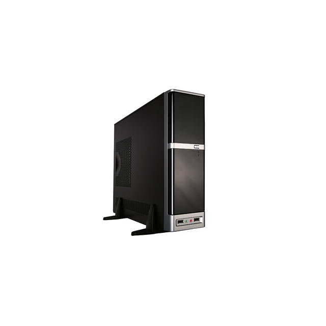 APEX DM-387 275W Slim MicroATX Case (Black-Silver)