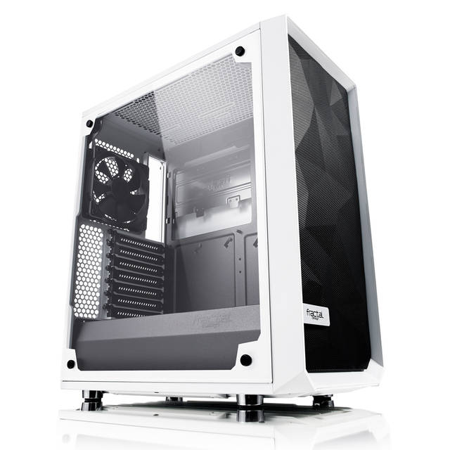 Fractal Design Meshify C - TG No Power Supply ATX Mid Tower (White)