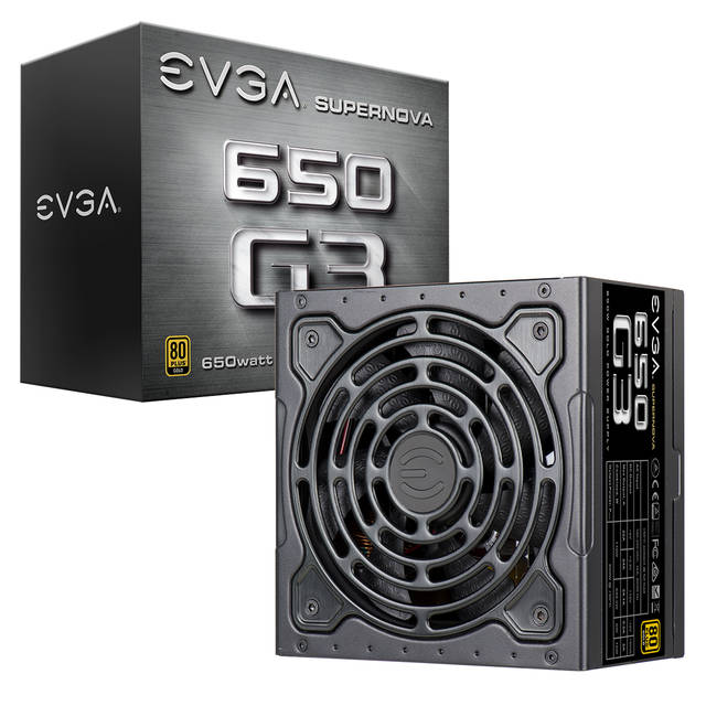 EVGA SuperNOVA 650 G3 220-G3-0650-Y1 650W 80 PLUS Gold ATX12V & EPS12V Power Supply
