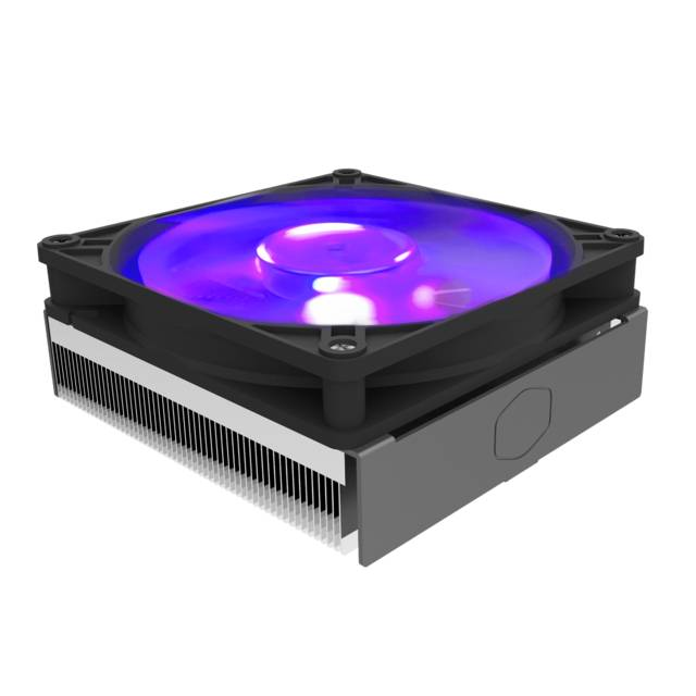 Cooler Master MasterAir G200P RGB Low-Profile CPU Air Cooler w- 39.4 mm Ultra-Low-Profile Heatsink,Two C-Shaped Heatpipe,95 x 92mm Size, 92mm PWM Fan