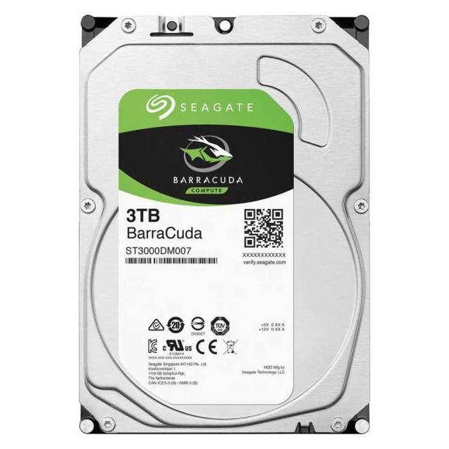 Seagate Barracuda ST3000DM007 5400RPM SATA 6.0 GB-s 256MB Hard Drive (3.5 inch)