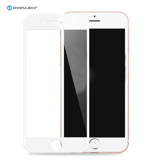 Pivoful PIV-I7TGW iPhone7 3D Tempered Glass Film (White)