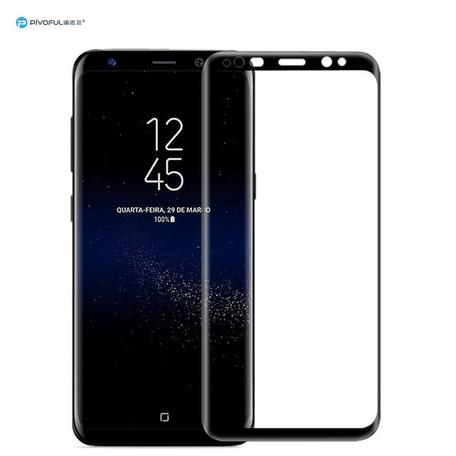 Pivoful PIV-S8FTGB S8 Full Size 3D Tempered Glass Film (Black)