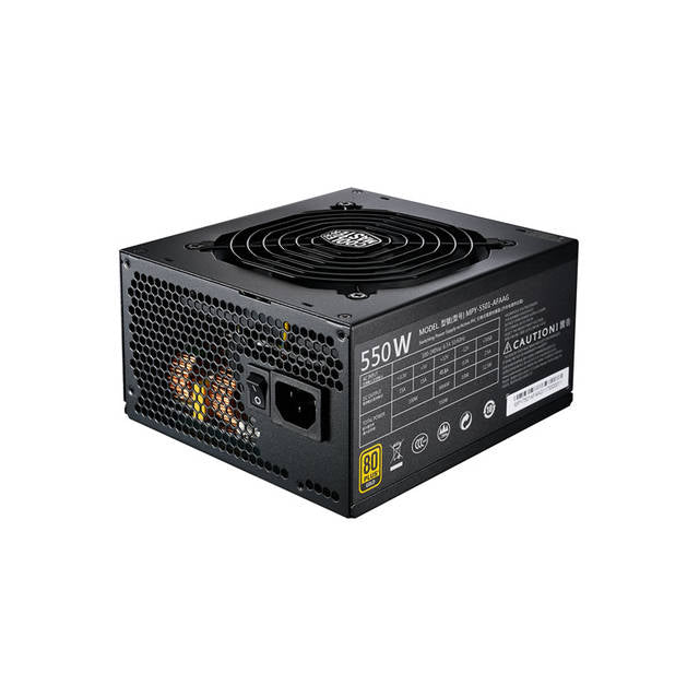 Cooler Master MWE Gold 550 Full Modular MPY-5501-AFAAG-US 550W 80 PLUS Gold ATX 12V V2.31 Power Supply w- Active PFC