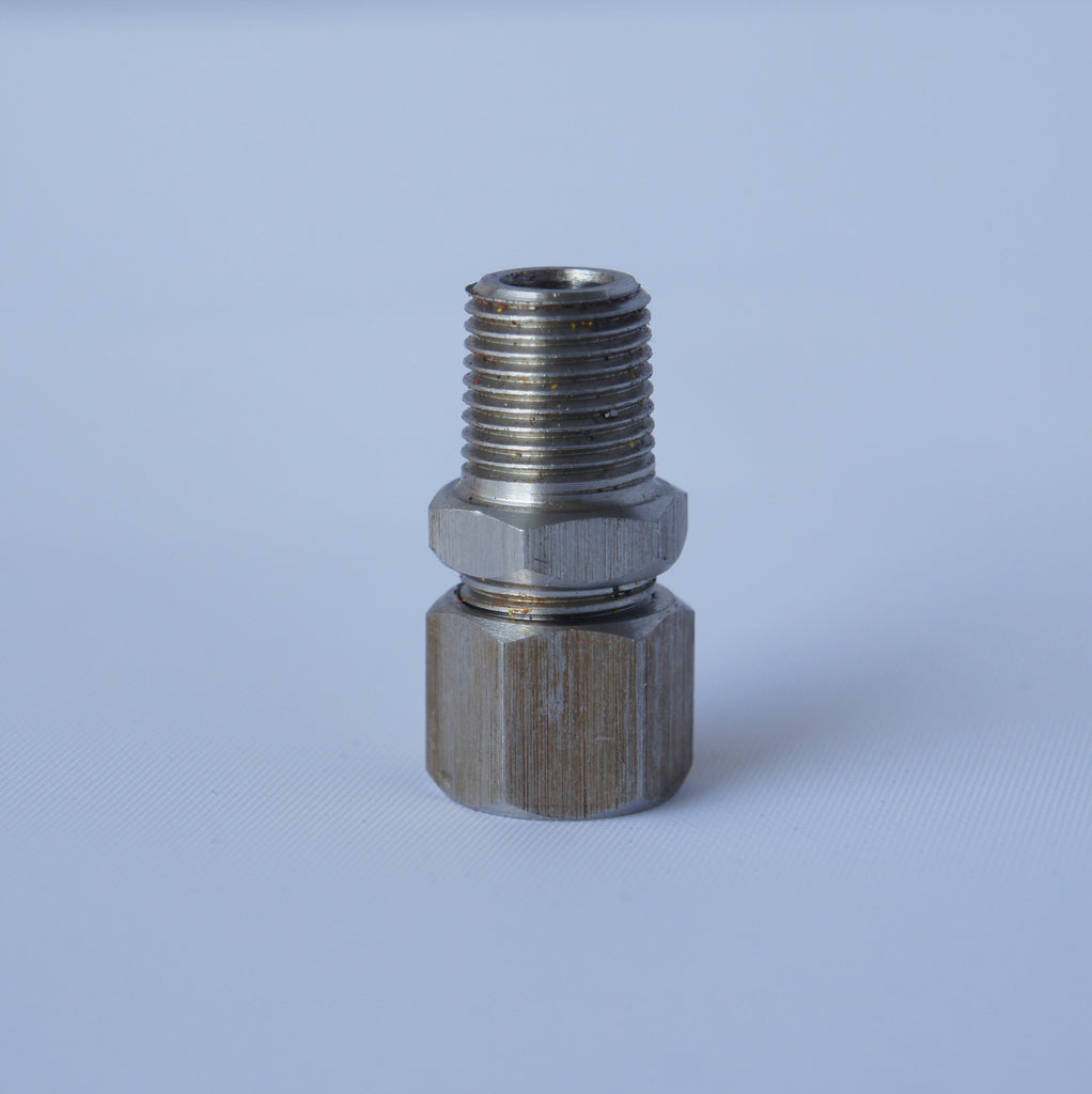 "1/8"" NPT Male Compression Fitting- Stainless Steel - 0D 5MM. - Mainline Sensors"