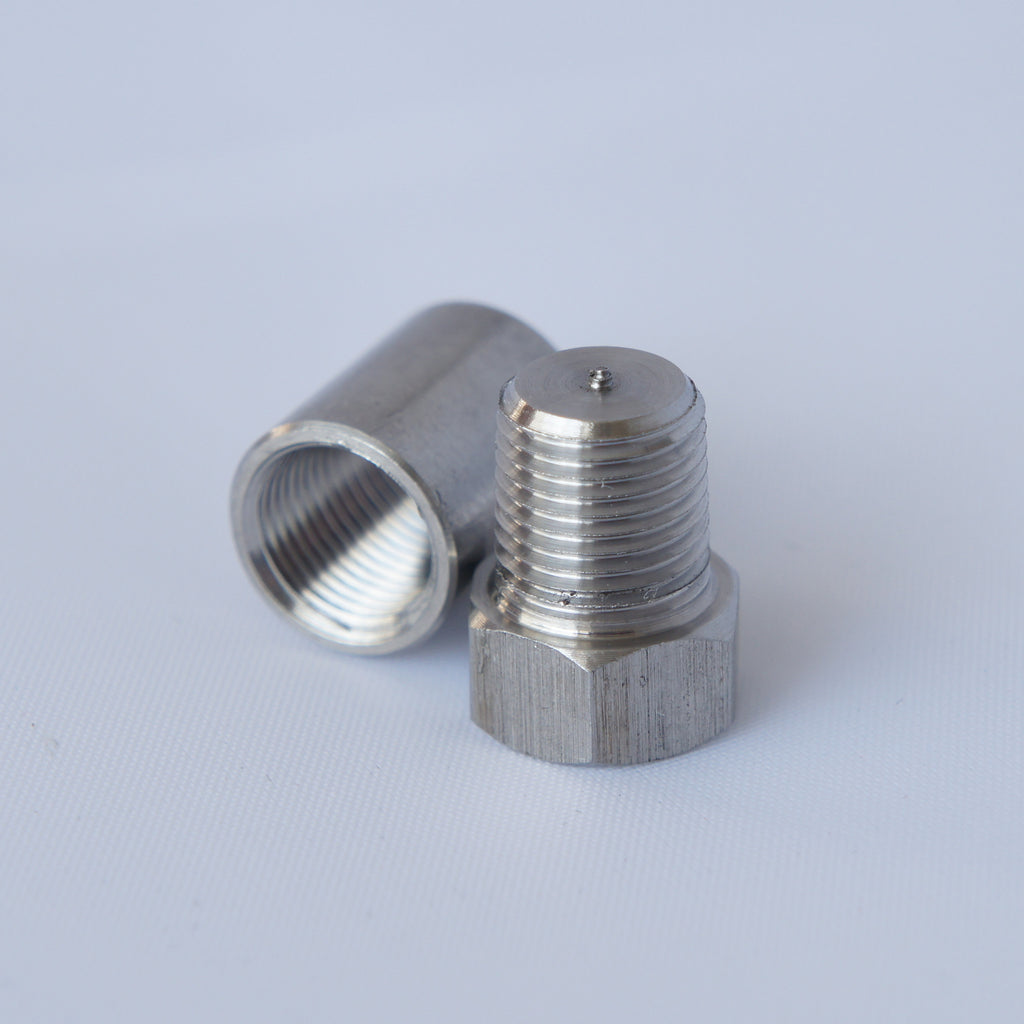 "1/8"" NPT Weld Bung & Plug for Exhaust, EGT pyrometer gauge & Sensor Fittings - Mainline Sensors"