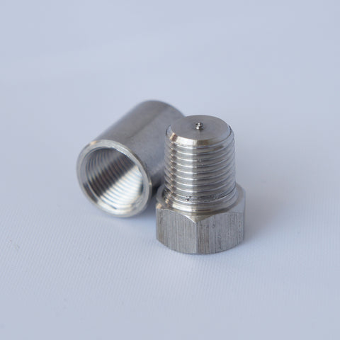"1/4"" NPT Weld Bung & Plug for Exhaust, EGT pyrometer gauge & Sensor Fittings - Mainline Sensors"