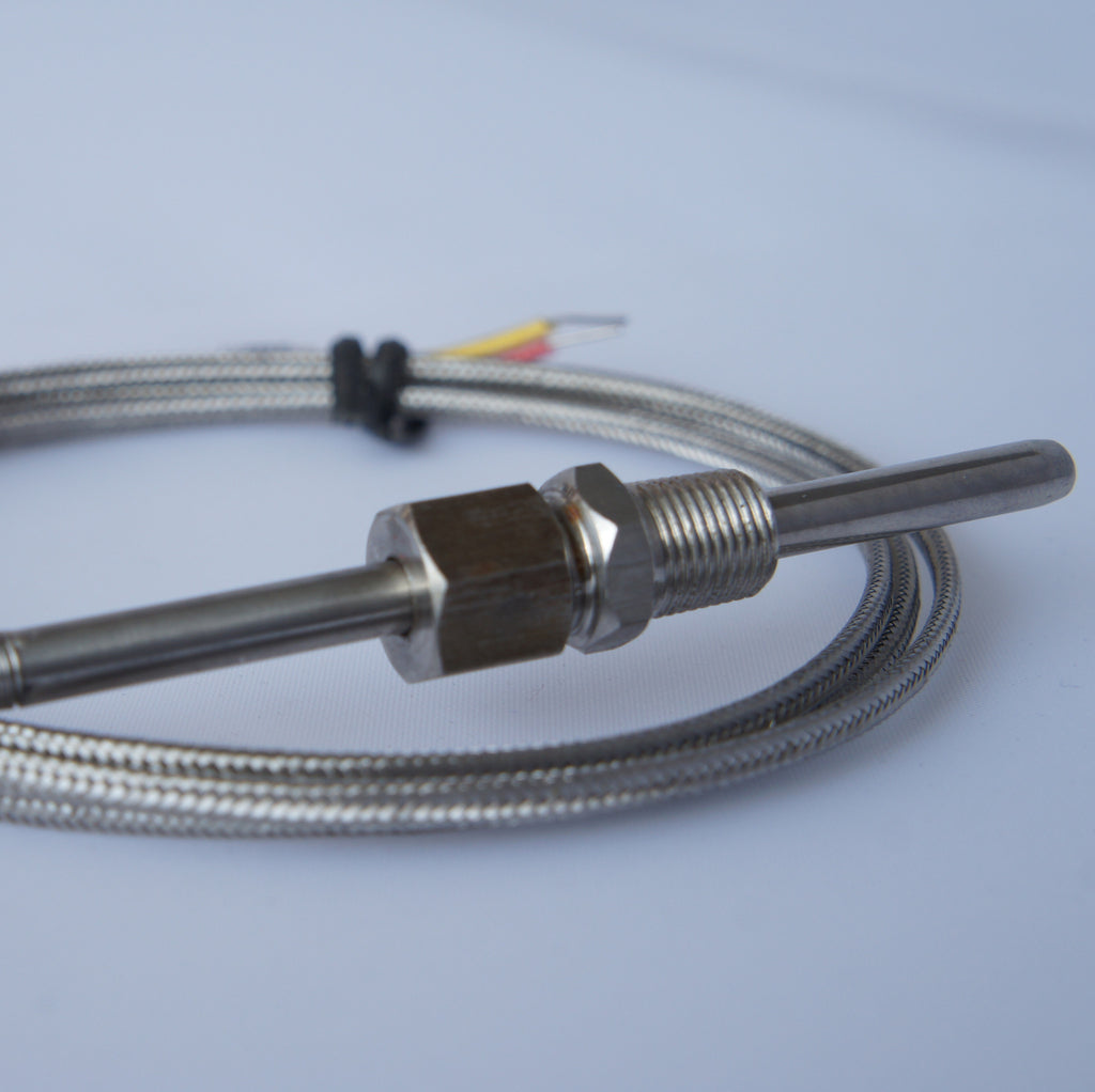 K Type Thermocouple Stainless Steel Probe Temperature Controller Wire Exhaust Gas Sensor 1 8 Npt