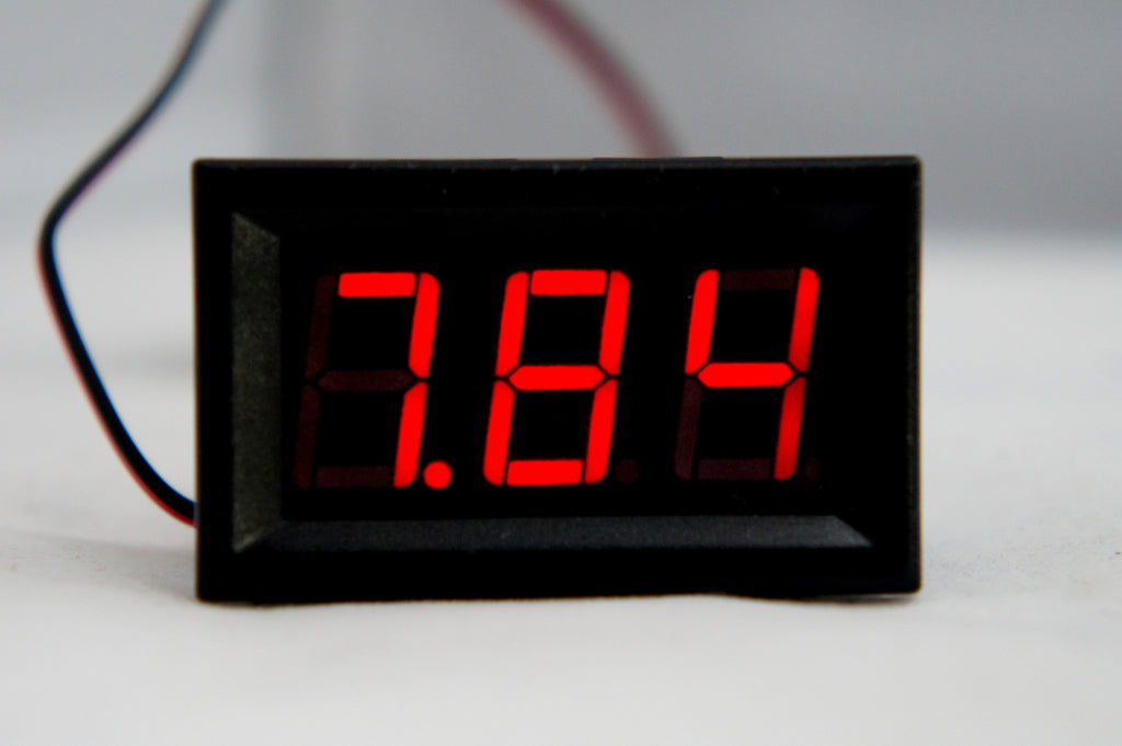 Digital Display Voltage Meter for input 5 volt – 120 volt DC, Red - Mainline Sensors