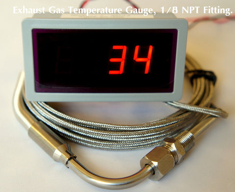 "Exhaust Gas Temperature Gauge Kit, 90 degree Bend, 1/8"" NPT (EGT) - Mainline Sensors"