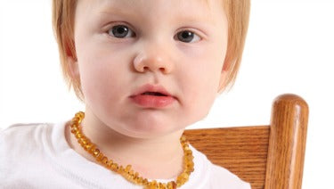 Amber Teething Necklace:  CAUTION ON THESE. WE DO NOT SELL THEM.
