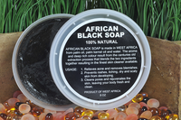 African Black Soap in a Tub