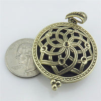 Aroma Locket Necklace Antique Bronze