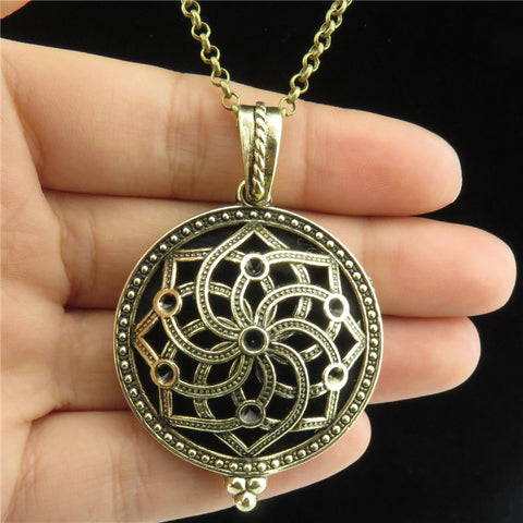 Aroma Locket Necklace Antique Bronze (Special Price)