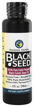 Black Seed Cold-Pressed Oil - 8 oz. (Amazing Herbs)  (OUT OF STOCK)