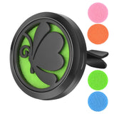 AromaBug™ Limited Edition  Premium Car Vent Air Freshener (Black Butterfly) (Tree of Life) Black OM) (Black Paw)
