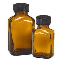 Bottle: Rectangular Amber Bottles 1/2 oz. (6 pack)