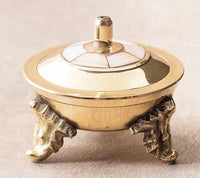 Burner: Small Brass Burner with Mother of Pearl