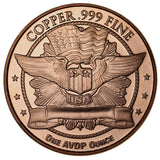 Buffalo Nickel Copper Round Coin (Packed in Clear Protective Capsule)