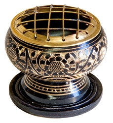 Burner: Brass Cone Incense Burner