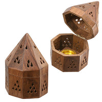 Burner: Wooden Tee-Pee style Incense Cone Burner