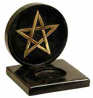 Burner: Pentacle Burner for Candles or Incense Cones
