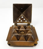 Burner: Egyptian  Solid Brass 9 Pyramid Incense Cone Burner (Free Shipping)
