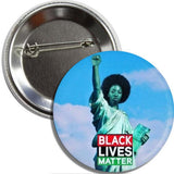 Button: Black Lives Matter Liberty (TWO PACK) Free Shipping. 3 in. Dia.