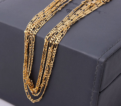 Chain: 18k Gold Plated 18in.