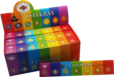 Incense:  Chakras Premium Masala Sticks (7 Chakras)